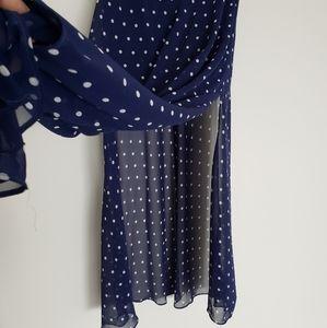 3 for $30❤Forever21 polka dot long skirt size M